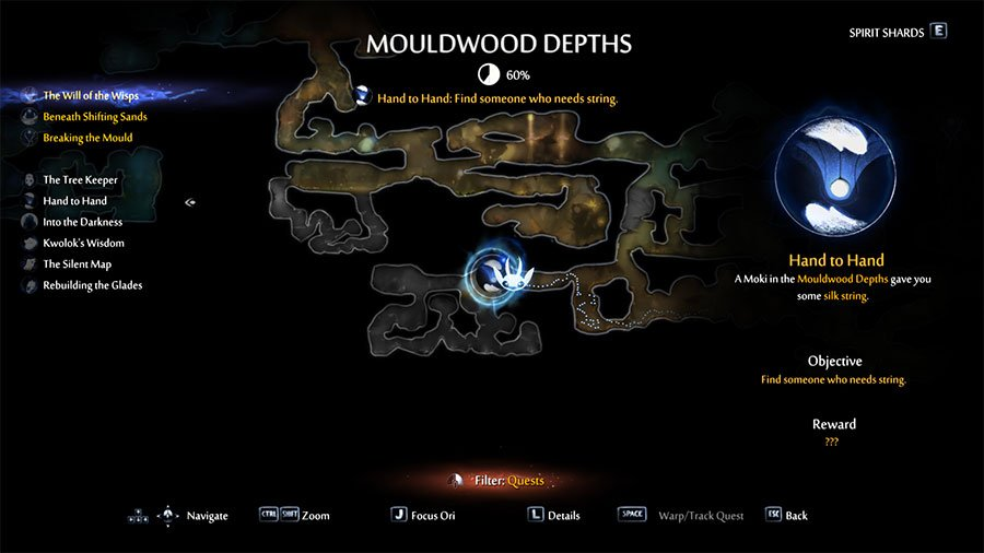 take the Lantern to a Moki in Mouldwoods Depths
