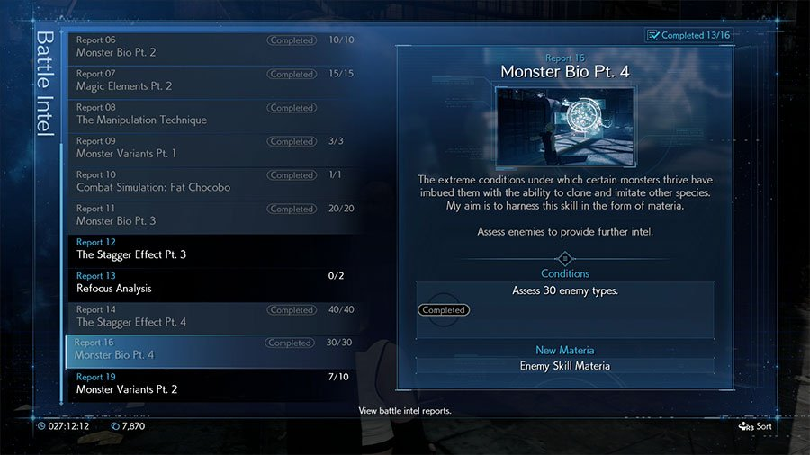 Where To Find Enemy Skill Materia In Final Fantasy 7 Remake