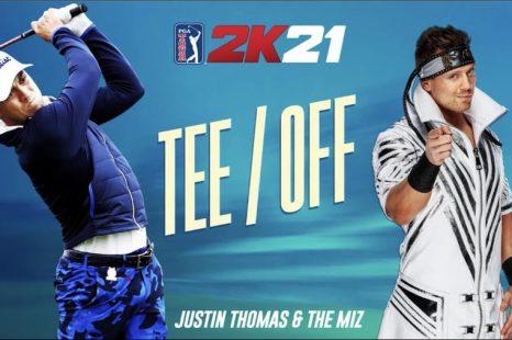 Justin Thomas de PGA TOUR 2K21 discute avec le Miz dans une nouvelle vidéo