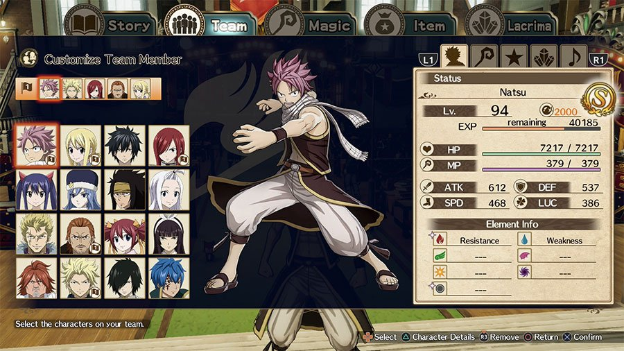 List Of All Playable Characters In Fairy Tail