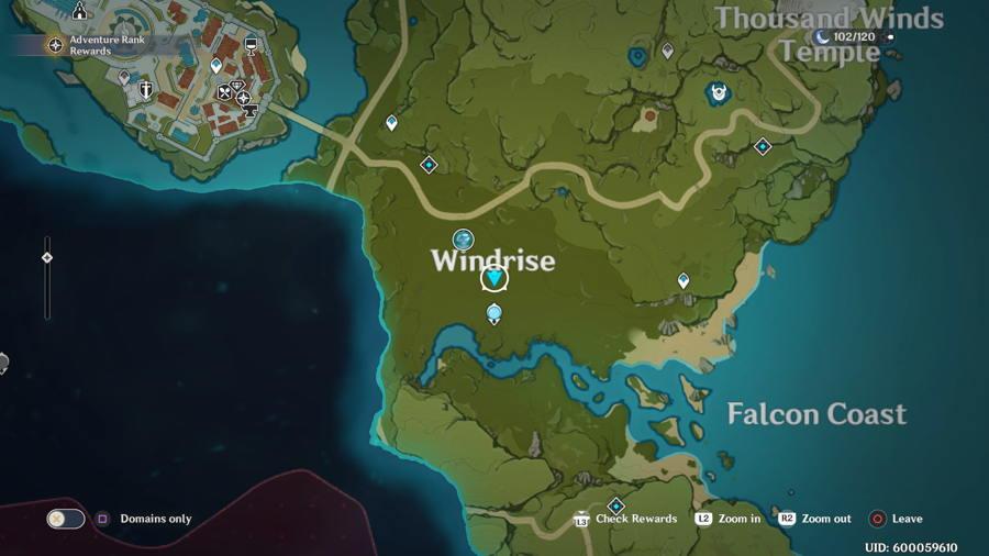 Anemoculus Windrise Location 3