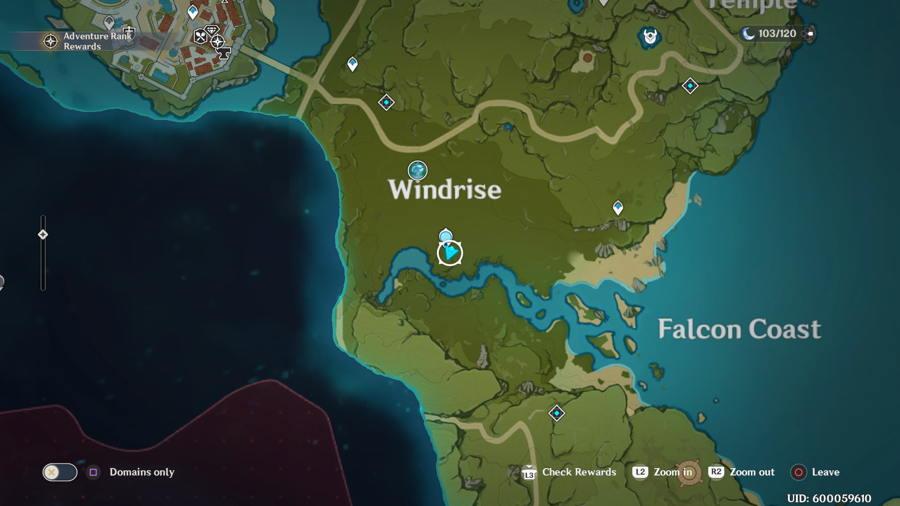 Anemoculus Windrise Location 4