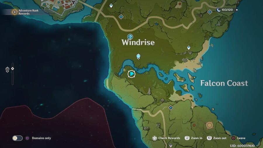 Anemoculus Windrise Location 5