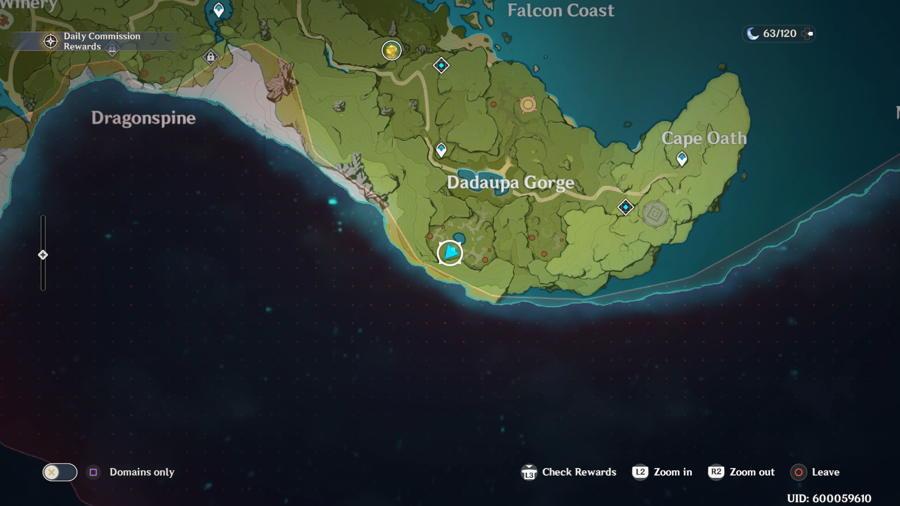 Dadaupa Gorge Anemoculus Location 7