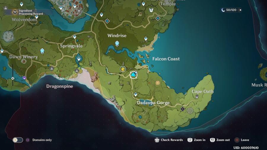 Dadaupa Gorge Anemoculus Location 1