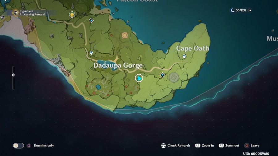Dadaupa Gorge Anemoculus Location 5 1