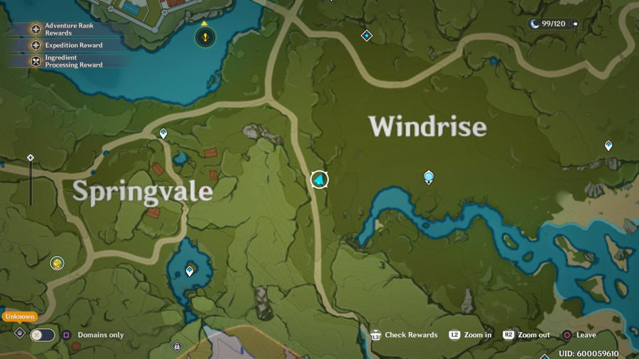 Windrise Anemoculus Location 8