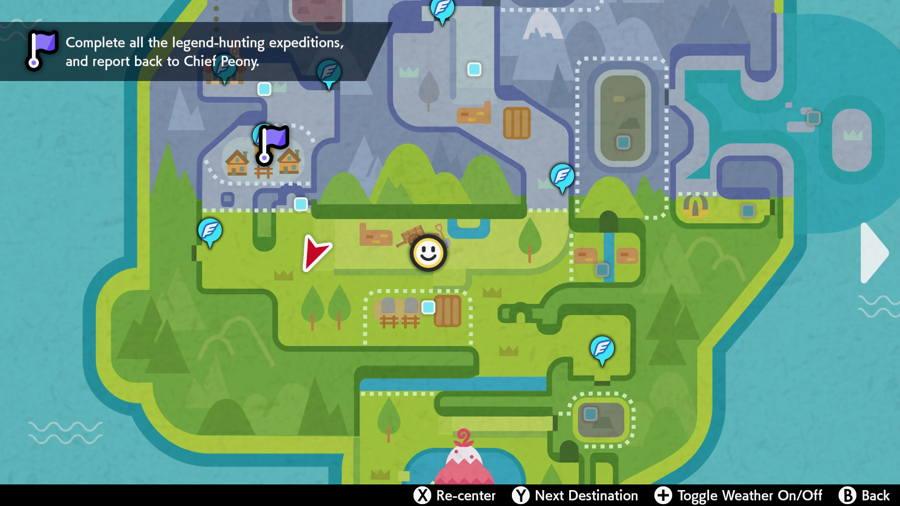 Grassland Pokemon Evidence Locations map 3