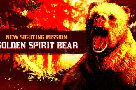 Golden Spirit Bear Sighting Mission This Week in Red Dead Online