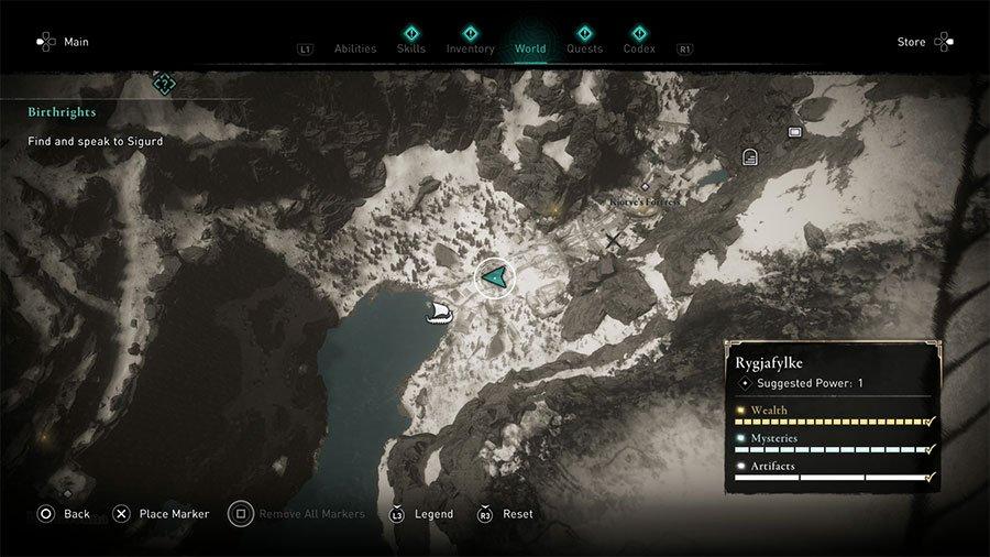 Rygjafylke Hoard Map Location & Solution