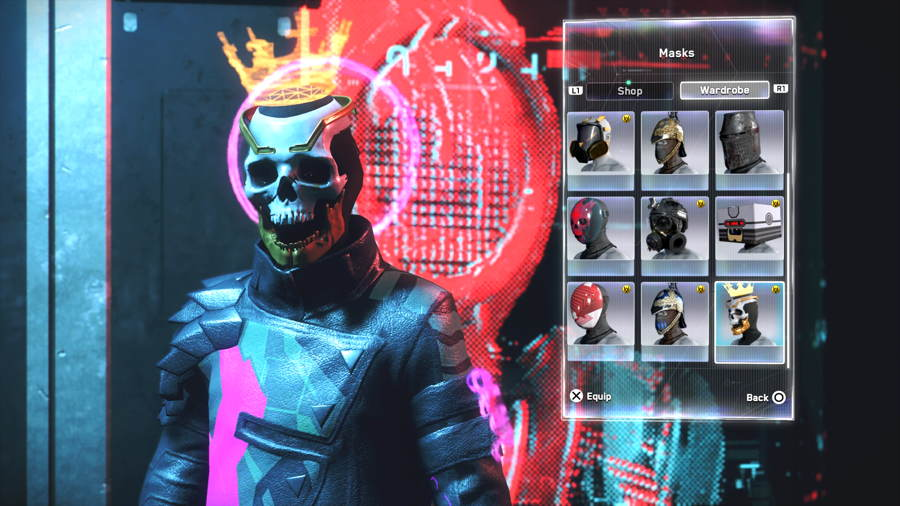 Skull Crown Mask Watch Dogs Legion