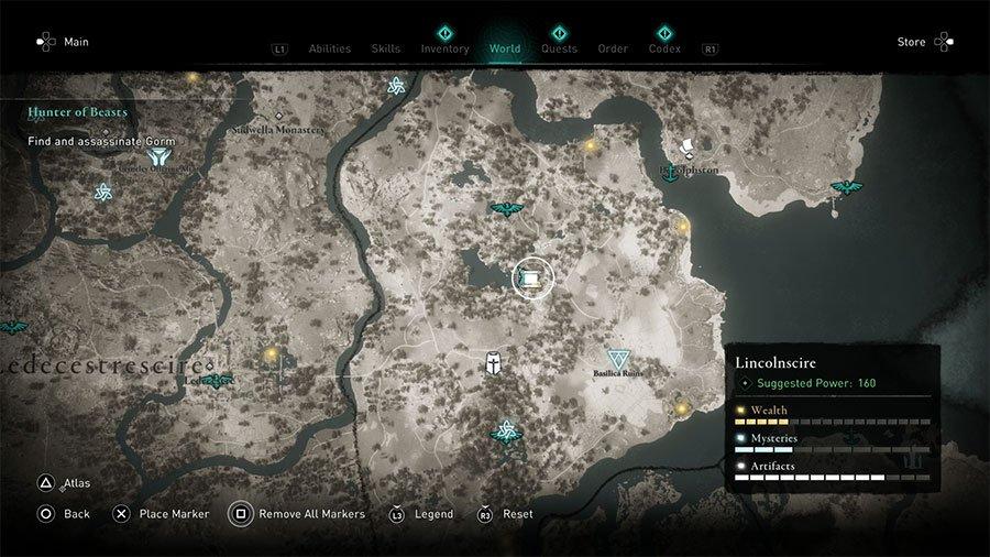 Lincolnscire Treasure Hoard Map Location