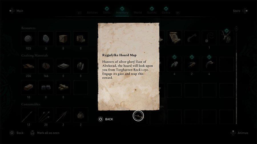Assassins Creed Valhalla Rygjafylke Treasure Hoard Map Guide