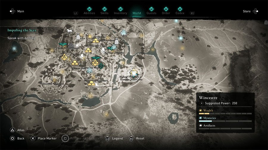 Assassins Creed Valhalla Wincestre Treasure Hoard Map Guide