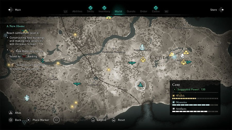 Cent Treasure Hoard Map Solution