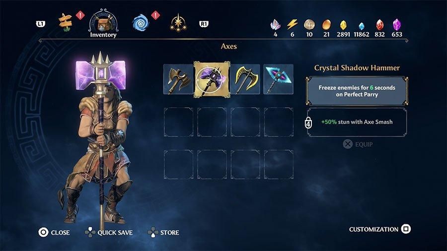 Crystal Shadow Hammer  Stats