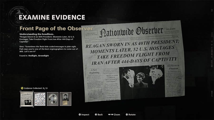 Front Page of the Observer clue