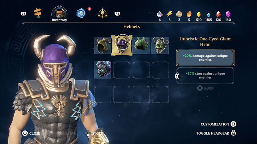 Hubristic One-Eyed Giant Helm
