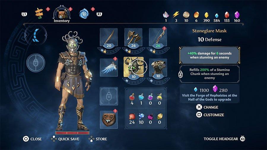 Immortals Fenyx Rising Armor & Gear Location Guides