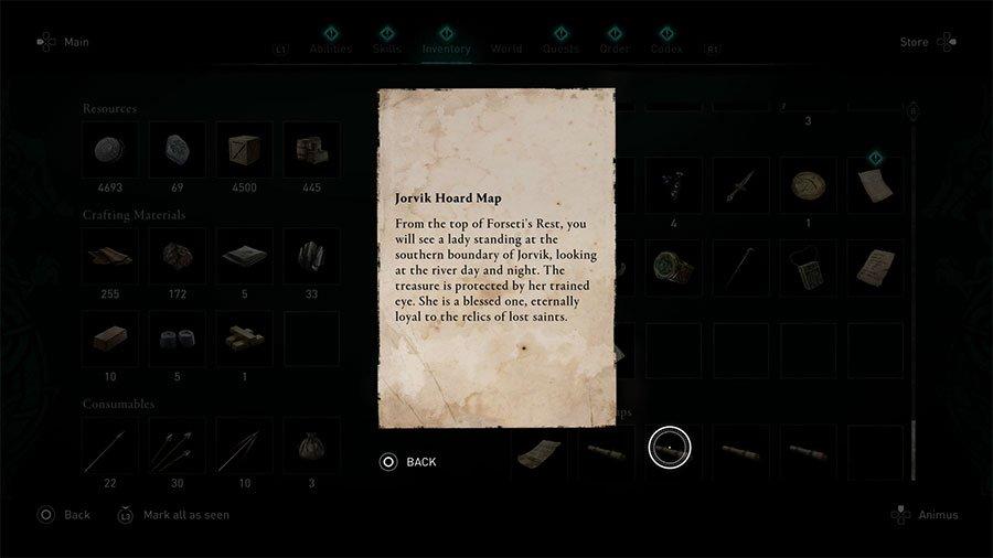 Jorvik Treasure Hoard Map Clue