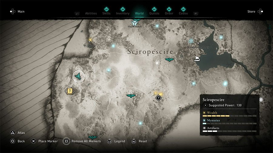 Sciropescire Treasure Hoard Map Solution