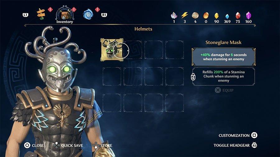 Stoneglare Mask Stats