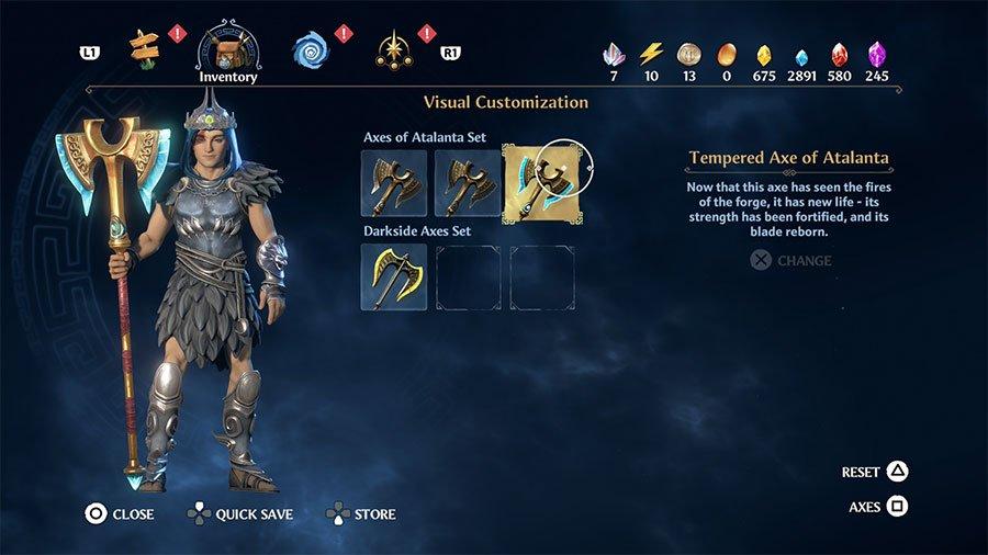 Tempered Axe Of Atalanta
