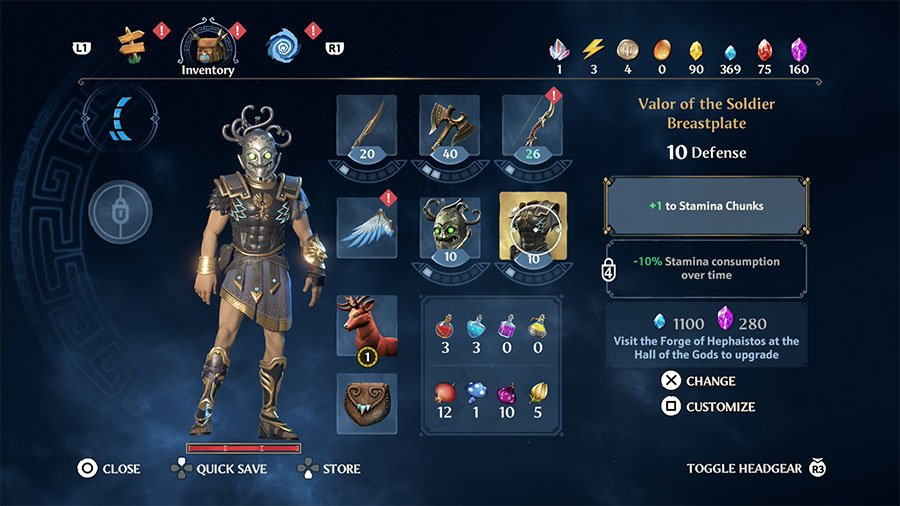 Valor Of The Soldier (Breastplate) Stats