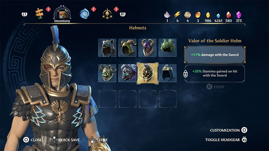 Valor Of The Soldier Helm