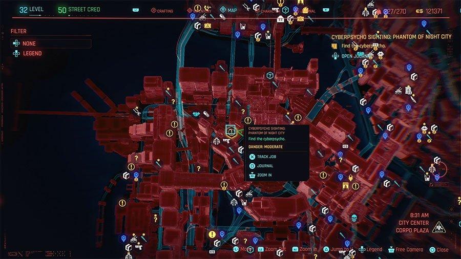 Cyberpsycho Location #10 (Phantom Of Night City)