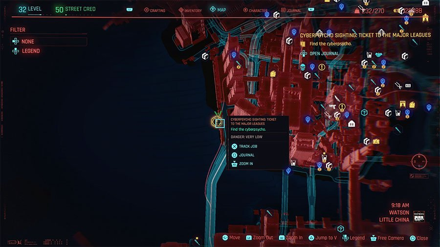 Cyberpsycho Location #11 (Ticket To The Major Leagues)