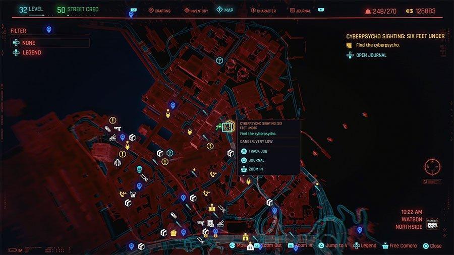 Cyberpsycho Location #13 (Six Feed Under)