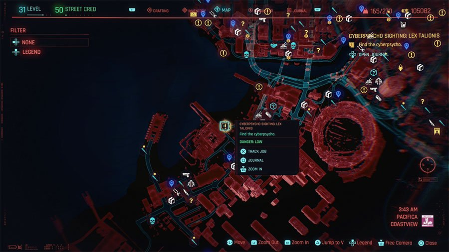 Cyberpsycho Location #5 (Lex Talionis)