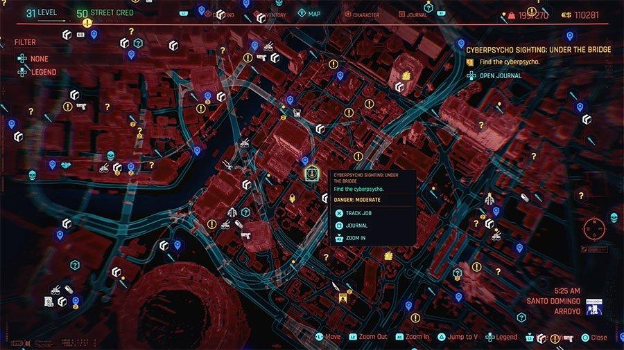 Cyberpsycho Location #7 (Sighting Under The Bridge)