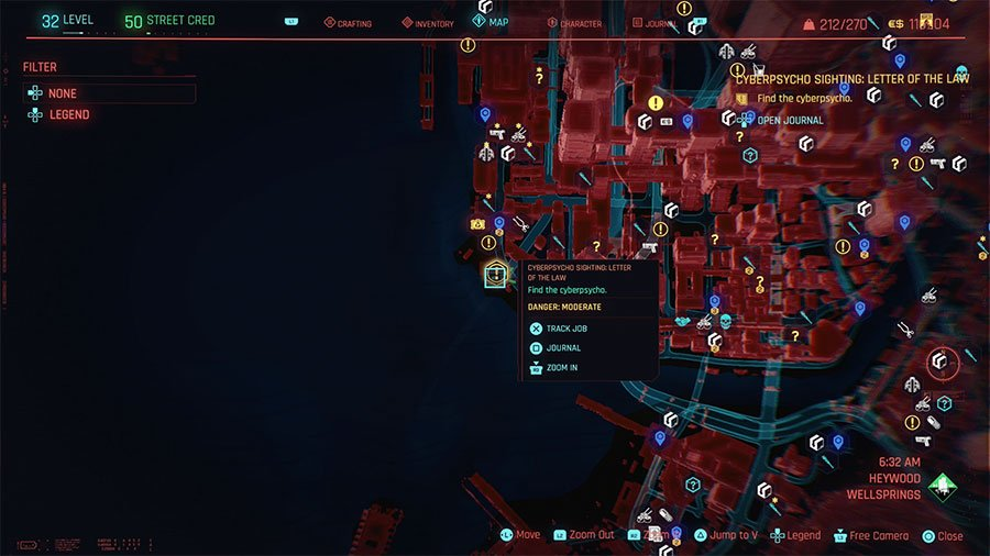 Cyberpsycho Location #9 (Letter Of The Law)