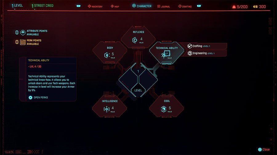 Cyberpunk 2077 Attributes Guide