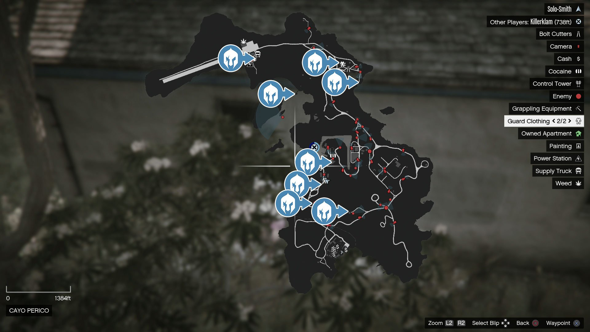 Map of guardwear location