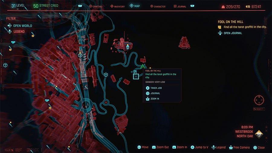 How To Find All Tarot Graffiti In Cyberpunk 2077