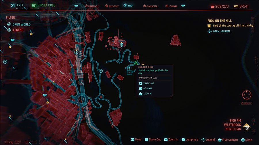 How to find all the tarot graffiti in Cyberpunk 2077