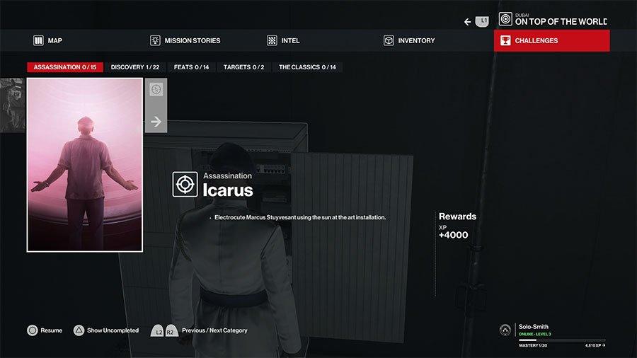 Hitman 3 Icarus Dubai Assassination Challenge Guide