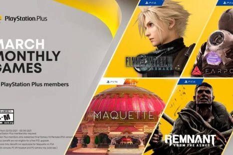 Final Fantasy VII Remake and Remnant: From the Ashes Coming to PlayStation Plus in March 2021