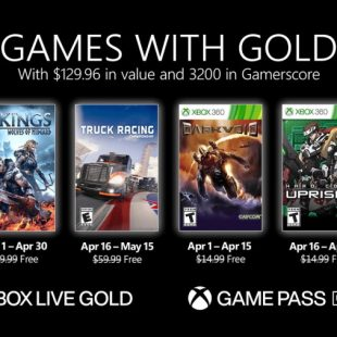 Games with Gold for April 2021 Announced