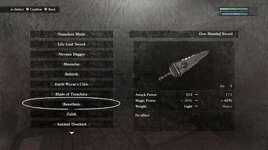 NieR Replicant Ver1.22 Weapon Location Guide