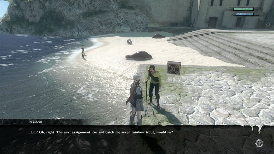 Where To Catch Rainbow Trout In NieR Replicant Ver1.22