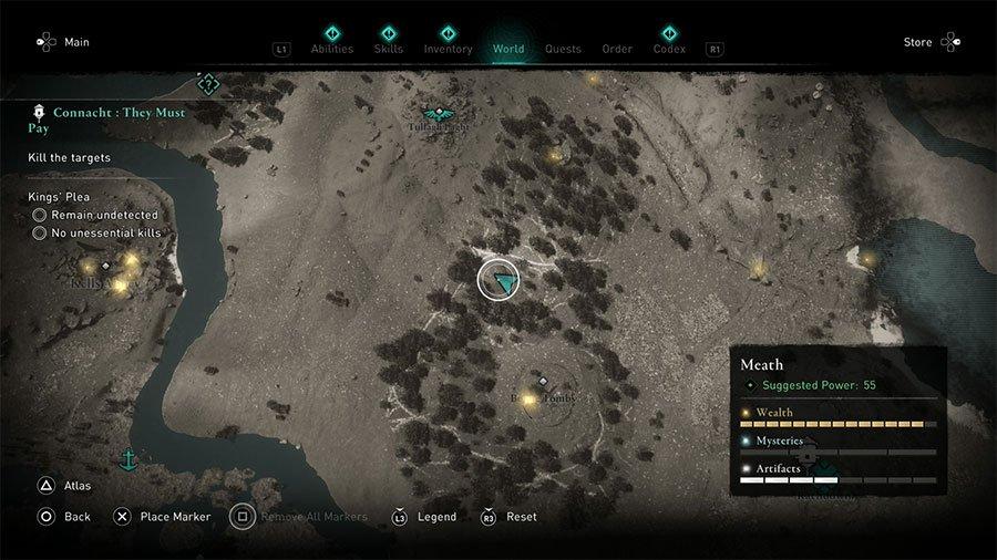 Assassin's Creed Valhalla Brega Treasure Hoard Map