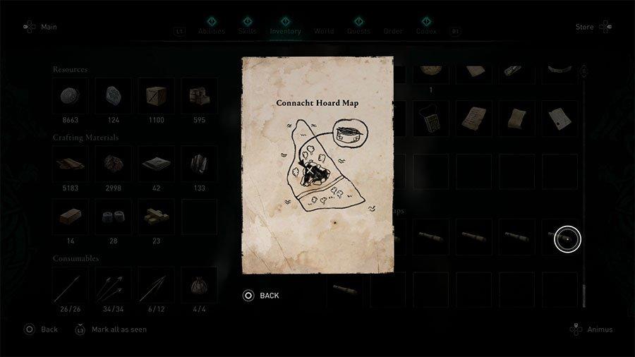 Assassin's Creed Valhalla Connacht Treasure Hoard Map Guide