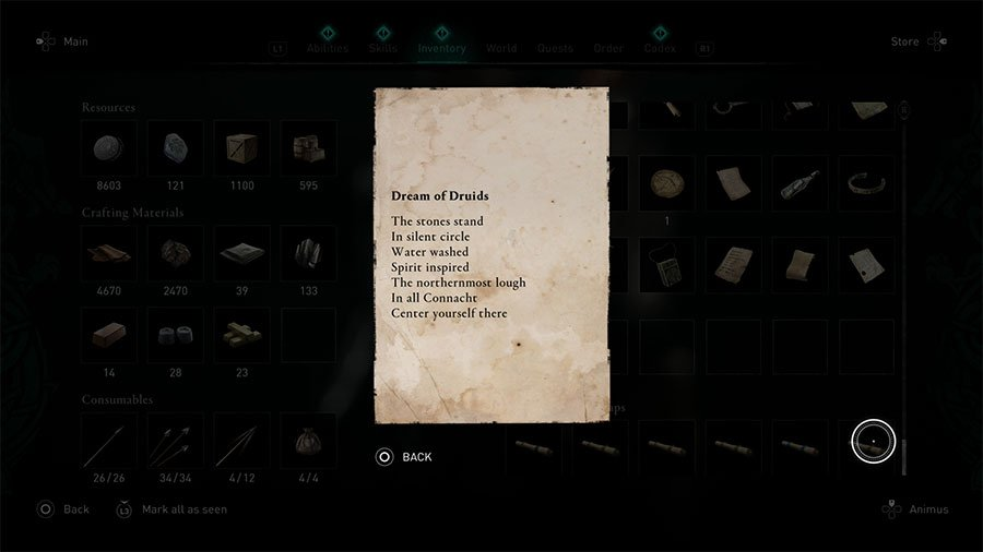Assassin's Creed Valhalla To My Friend The Priest Treasure Horde Map Guide