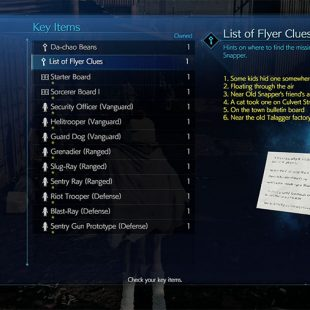 Final Fantasy 7 Remake Flyer Locations Guide