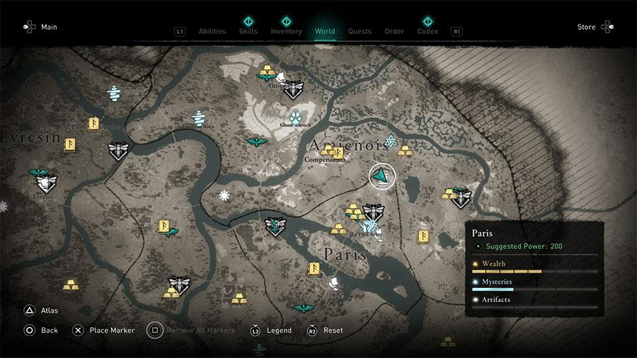 AC Valhalla Siege Of Paris Paris Hoard Map Guide