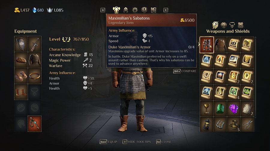 King's Bounty 2 Legendary Item Location Guide